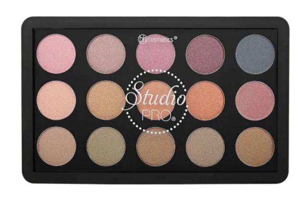 Paleta de Sombras Dual Pro Dual Effect  - BH Cosmetics - 15 Cores