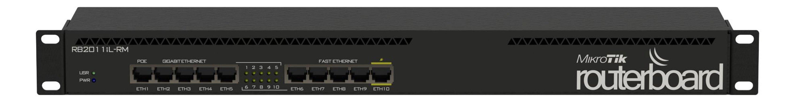 RB2011IL-RM - Roteador C/ 05 Portas FAST-ETHERNET, 05 PORTAS