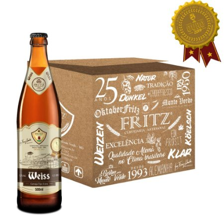Cerveja Fritz Weiss - 500ML - CAIXA 12 UNIDADES