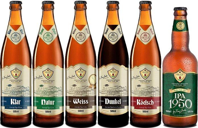 Kit Degustação - 6 Cervejas Fritz 500ml