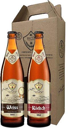 Pack 2 Cervejas Fritz - Weiss + Köelsch - 500ml