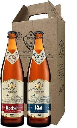 Pack 2 Cervejas Fritz - Köelsch + Klar - 500ml