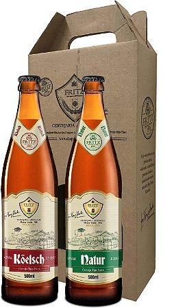 Pack 2 Cervejas Fritz - Köelsch + Natur - 500ml