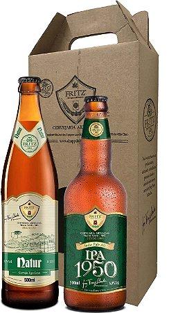 Pack 2 Cervejas Fritz - Natur + IPA1950 - 500ml