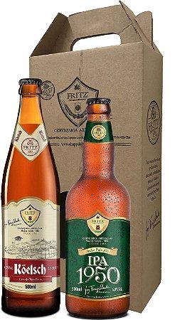 Pack 2 Cervejas Fritz - Köelsch + IPA1950 - 500ml