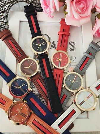 Relógio feminino Gucci couro - Jl Relógios e Acessórios - Relógios ... 16a5b854c1