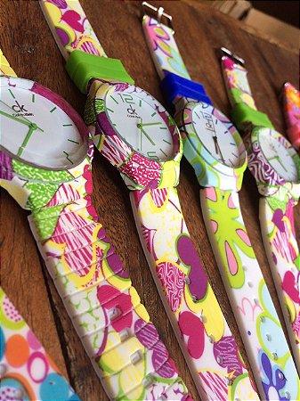 Relógio Feminino CK Floral - Jl Relógios e Acessórios - Relógios ... 95f2734a2b