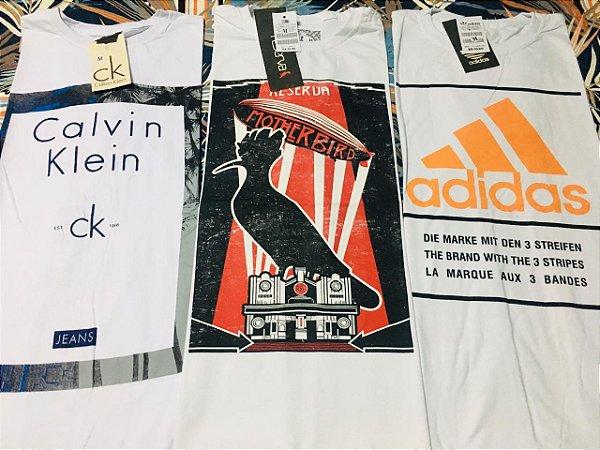 63a403eb2bf kit c  20 Camisetas no atacado para revenda - Varias marcas famosas ...