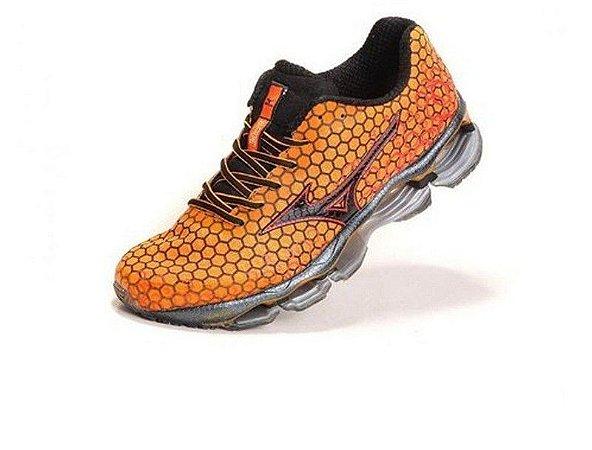 bb553b7b33 TÊNIS MIZUNO WAVE PROPHECY 3 - LARANJA - Modas Empire Shoes ...