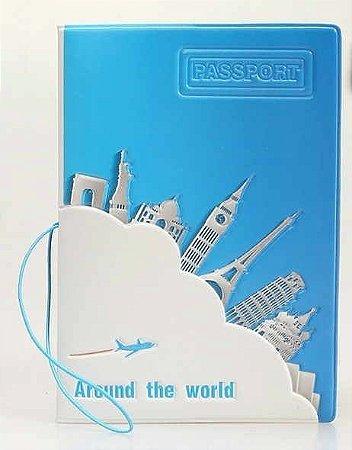 Capa de passaporte Around the World - cod016