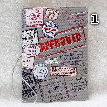 Capa Passaporte Approved - cód. 0148