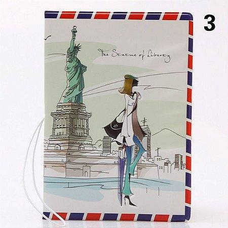 Capa de passaporte USA - cód.152