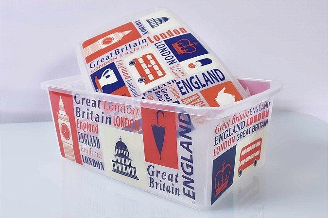 Caixa Organizadora decorada Londres - cód.076