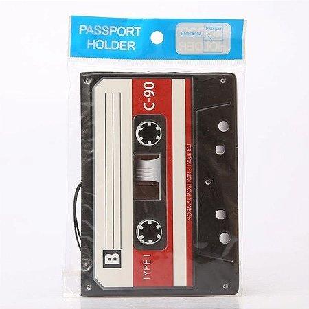 Capa de passaporte Fita Cassete