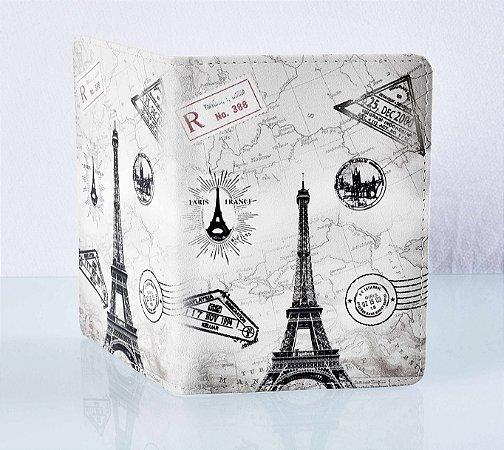 Capa de passaporte Paris