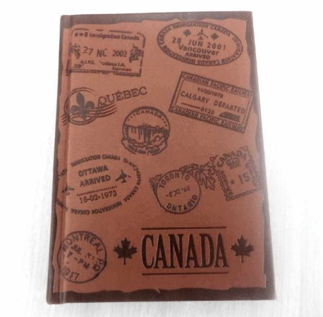 Caderneta de anotações - Canadá
