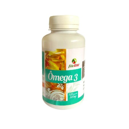 Omega 3 Óleo de Peixe 500mg 120 Cápsulas