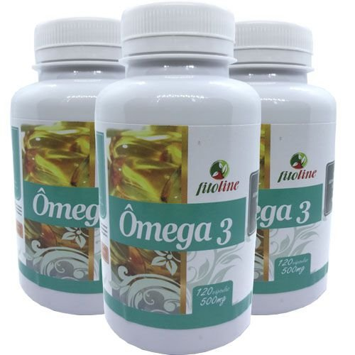 Omega 3 Óleo de Peixe 500mg 120 Cápsulas (Kit 3 unidades)
