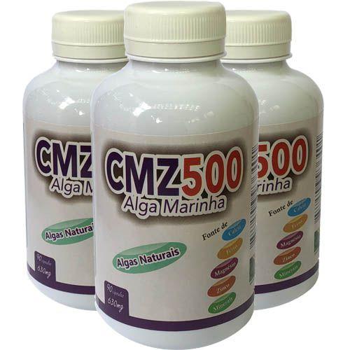 Cálcio + Magnésio Zinco 630mg 90 Cápsulas (kit 3 unidades)