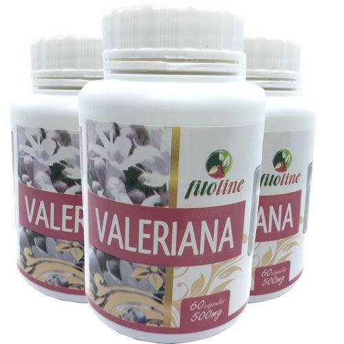Valeriana 500mg 3x 60 Cápsulas Antistress