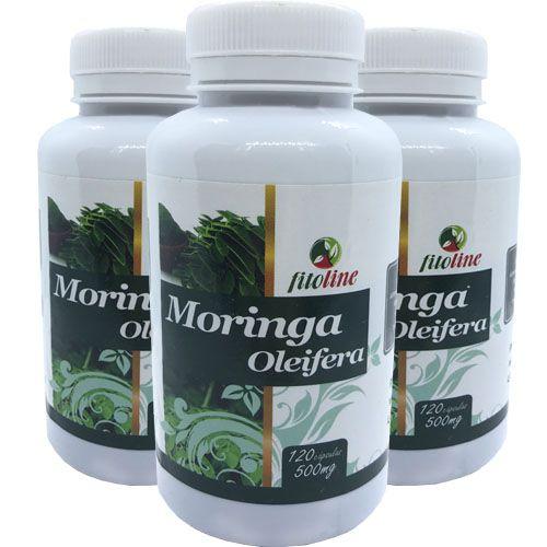 Moringa Oleifera 500mg 120 Cápsulas (Kit 3 unidades)
