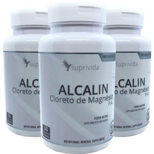 Alcalin Cloreto De Magnesio Para Diabetes 500mg (kit 3 unidades)