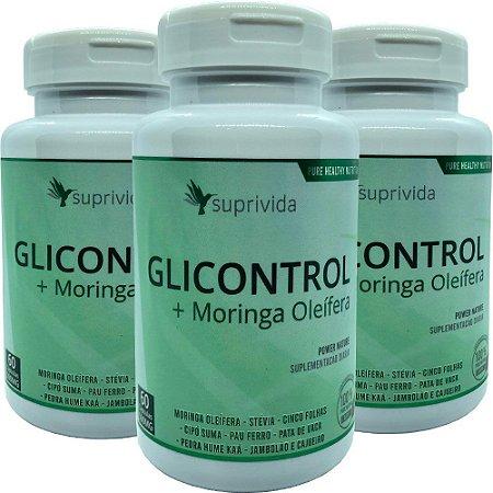 Glicontrol Composto + Moringa Oleifera 500mg (kit 3 unidades)