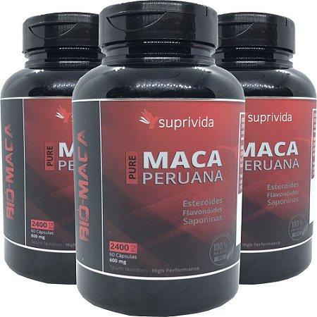 Maca Peruana Pura Suprivida 500mg (kit 3 unidades)
