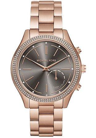 387fd7b6696 Relogio feminino Michael Kors Access Hybrid Rose Gold Slim Runway  Smartwatch MKT 4005