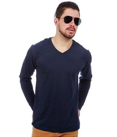 Camiseta Manga Longa Azul