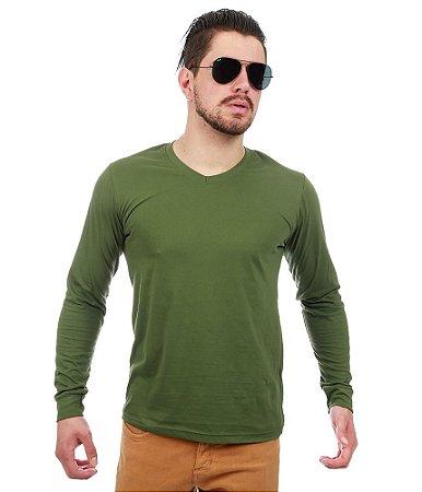 Camiseta Manga Longa Verde
