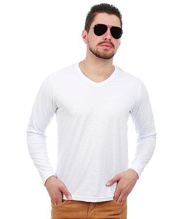 Camiseta Manga Longa Branco