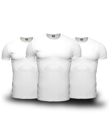 Combo 03 Camisetas Básicas Brancas