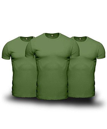 Combo 03 Camisetas Básicas Verdes