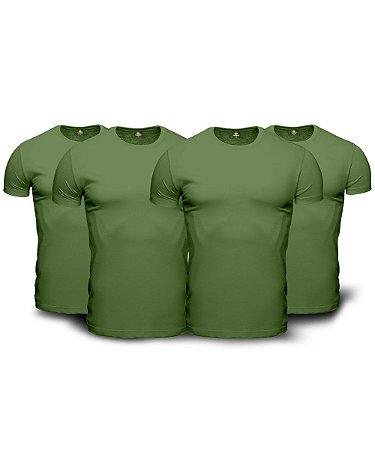 Combo 04 Camisetas Básicas Verdes