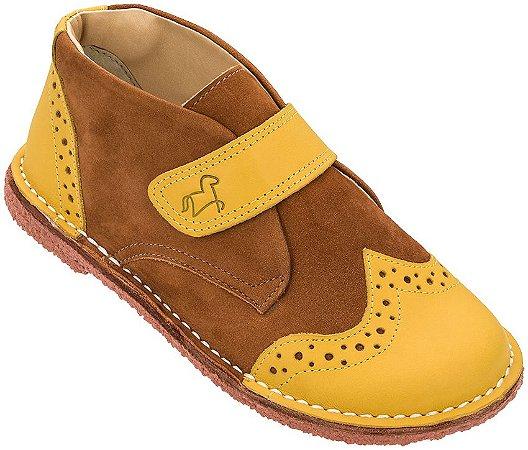 Bota Infantil Bolita Amarelo/Canela - Baby