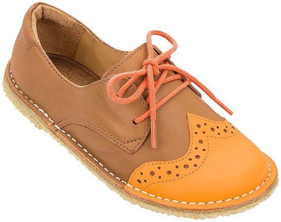 Sapato Infantil Pique-nique Laranja/Caramelo - Teen
