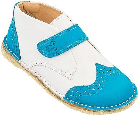 Bota Infantil Bolita Azul/Branco - Teen
