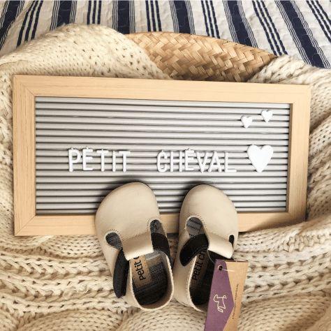 Sapato Infantil Chocalho Creme/Noir - Mini