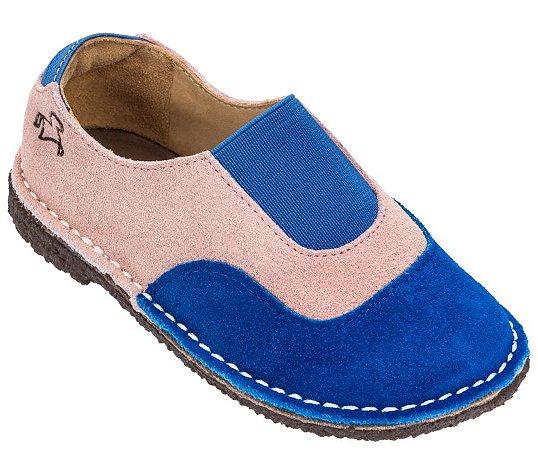 Sapato Infantil Cata-Vento Marine/Rosé - Teen