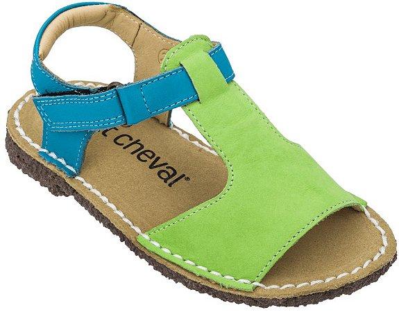 Sandália Infantil Carrossel Limão/ Azul