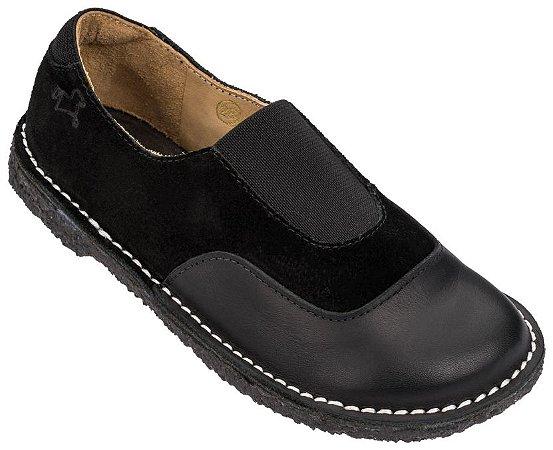 Sapato Infantil Cata-Vento Noir/ Camurça Noir
