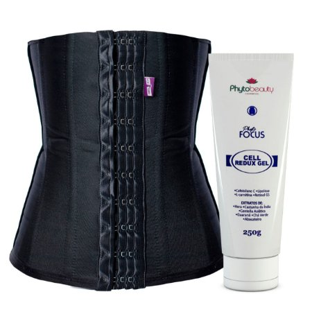 KIT REDUCTION 3x - CINTA MODELADORA 3 AJUSTES + GEL REDUTOR PROFISSIONAL ALTA PERFORMANCE