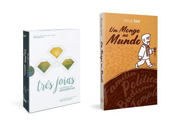 KIT - Box Três Joias e Livro Monge Sato