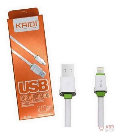 Cabo Dados Usb 1m Lightning iPhone Kaidi Kd306