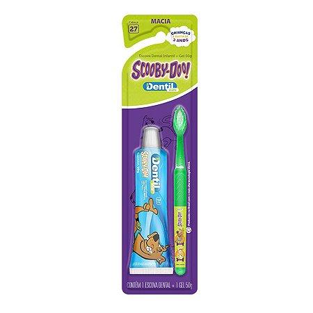Escova Dental Dentil Scooby-Doo + Gel Dental Dentil