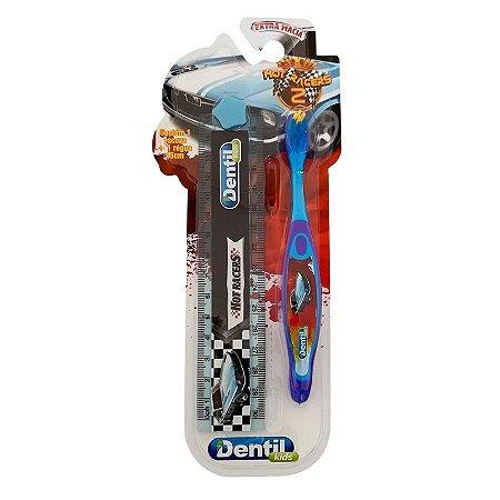Escova Dental Dentil Kids Carros com Régua