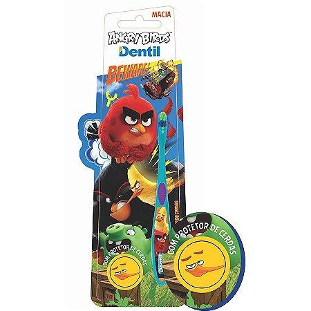 Escova Dental Dentil Angry Birds com Protetor de Cerdas