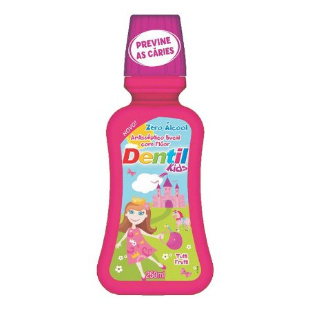 Enxaguante Bucal Dentil Kids Zero Álcool 250ml