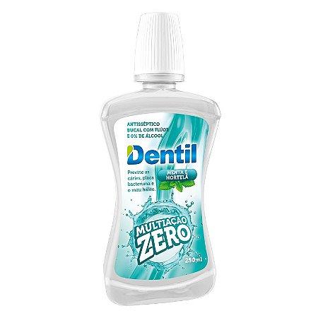Enxaguante Bucal Dentil Multiação Zero Álcool 250ml